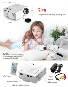 UC28+ LED High Definition Home Mini Projector